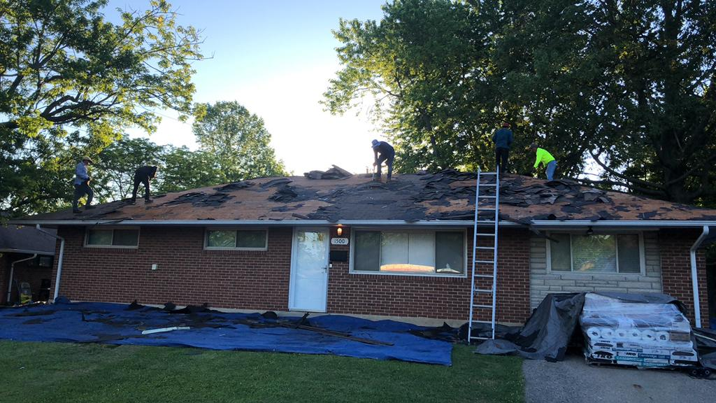 Roof Replacement In Reynoldsburg Oh Old Shingle Removal