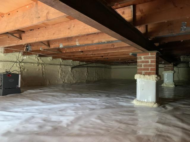 Progression of a full crawl space transformation