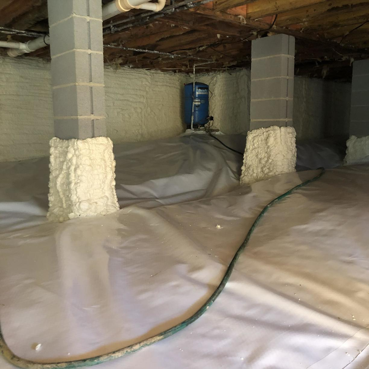 Closed cell spray foam and CleanSpace liner