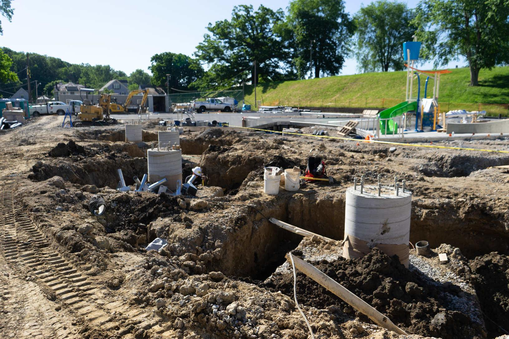 Water Slide Foundations