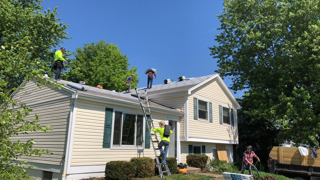 Laying New Shingles in Powell, OH