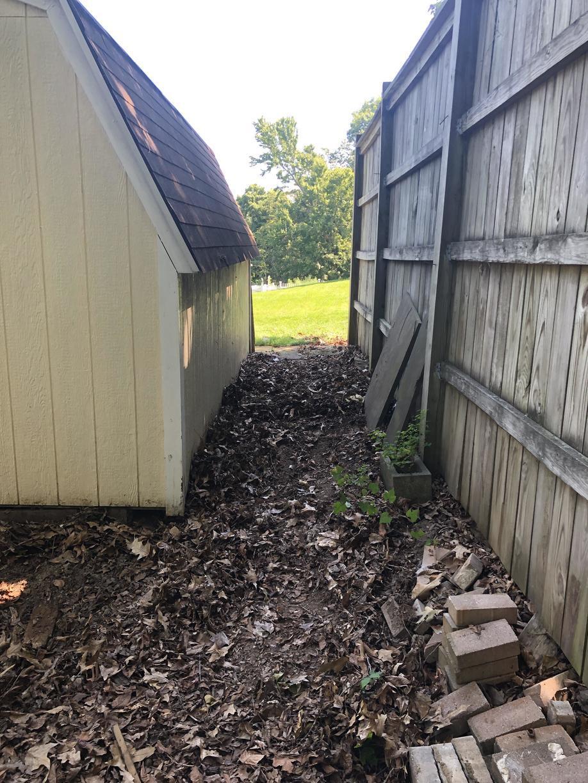 After: outdoor debris clean-up in Nokesville, VA