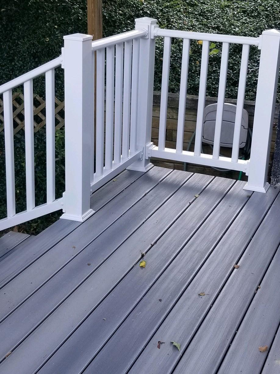 Railing Installed for a Composite Deck