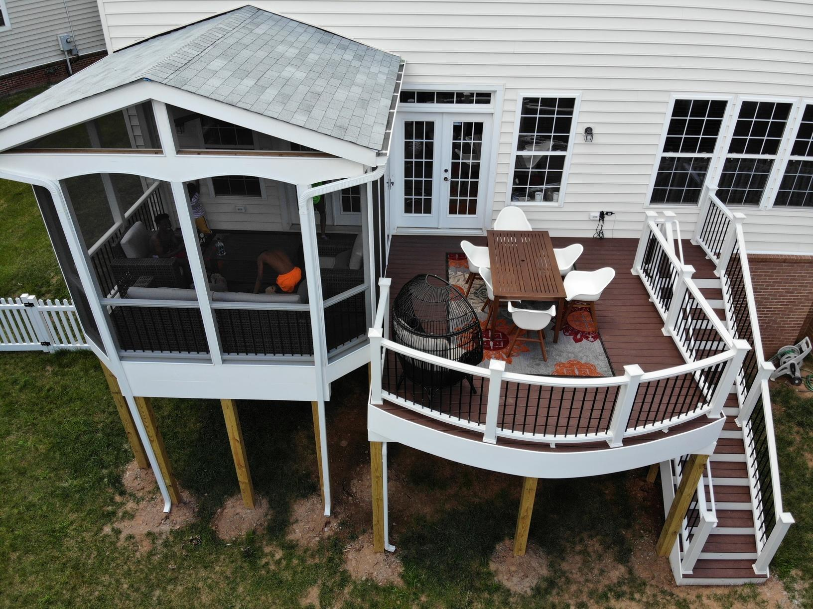 Beautiful Deck and Porch Combo!