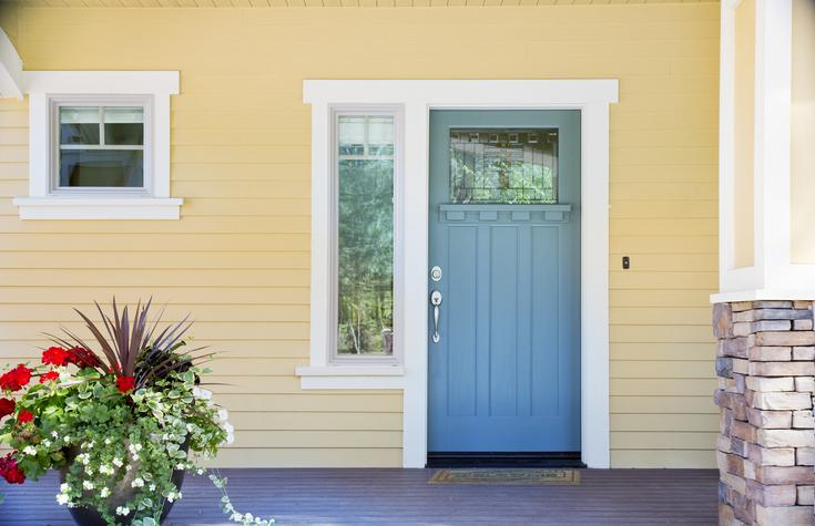 NorthernCraft-Front entrance of a home with blue door