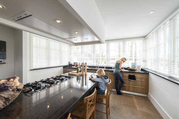 NorthernCraft-Beautiful Kitchen in Luxury Home with cooking Island