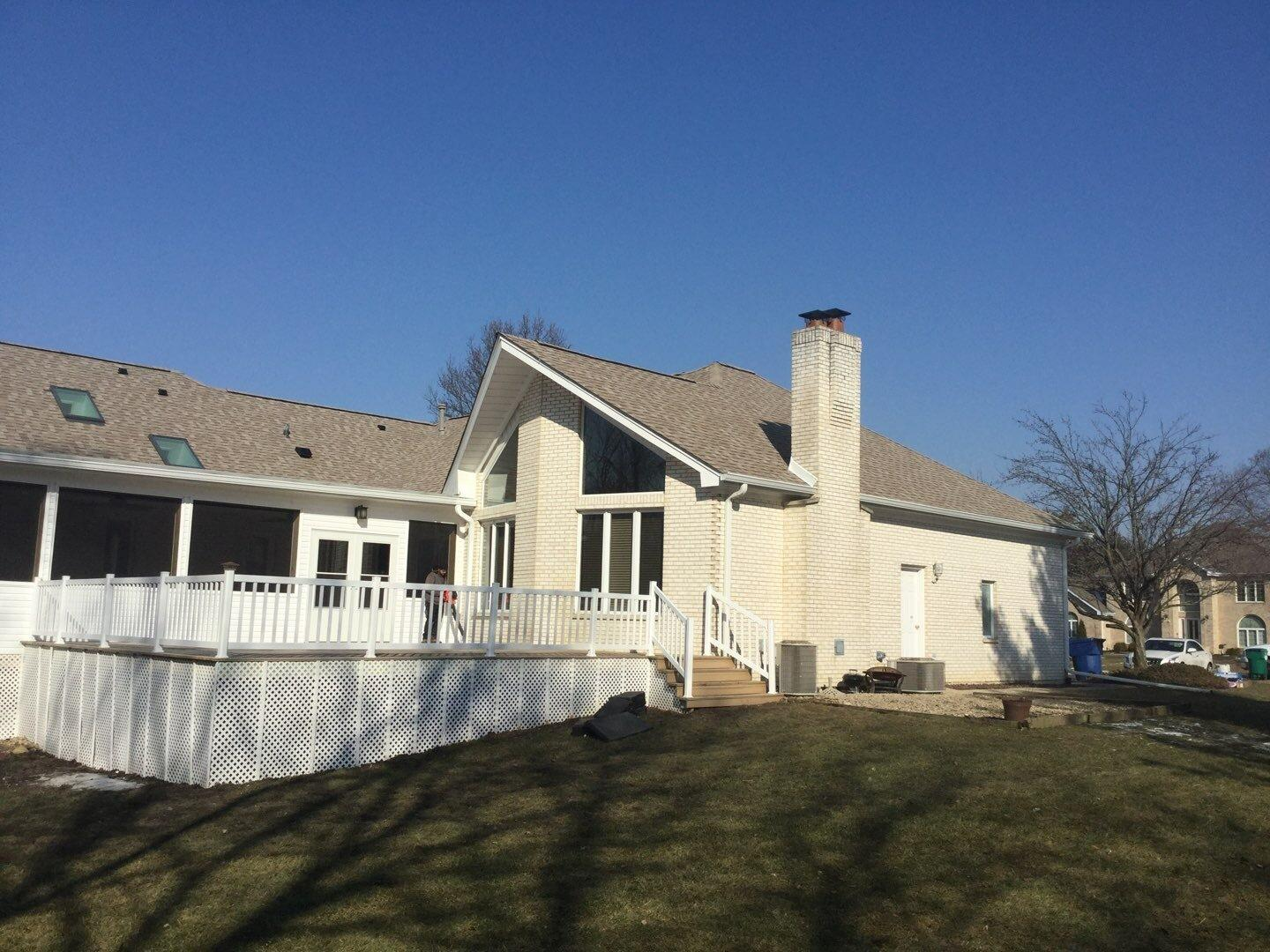 Roof install in Homer Glen, IL
