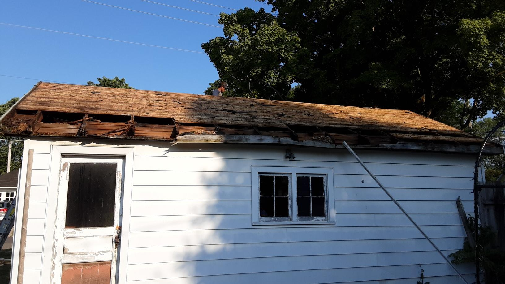 Removing the Old Shingles in Bellefontaine, OH