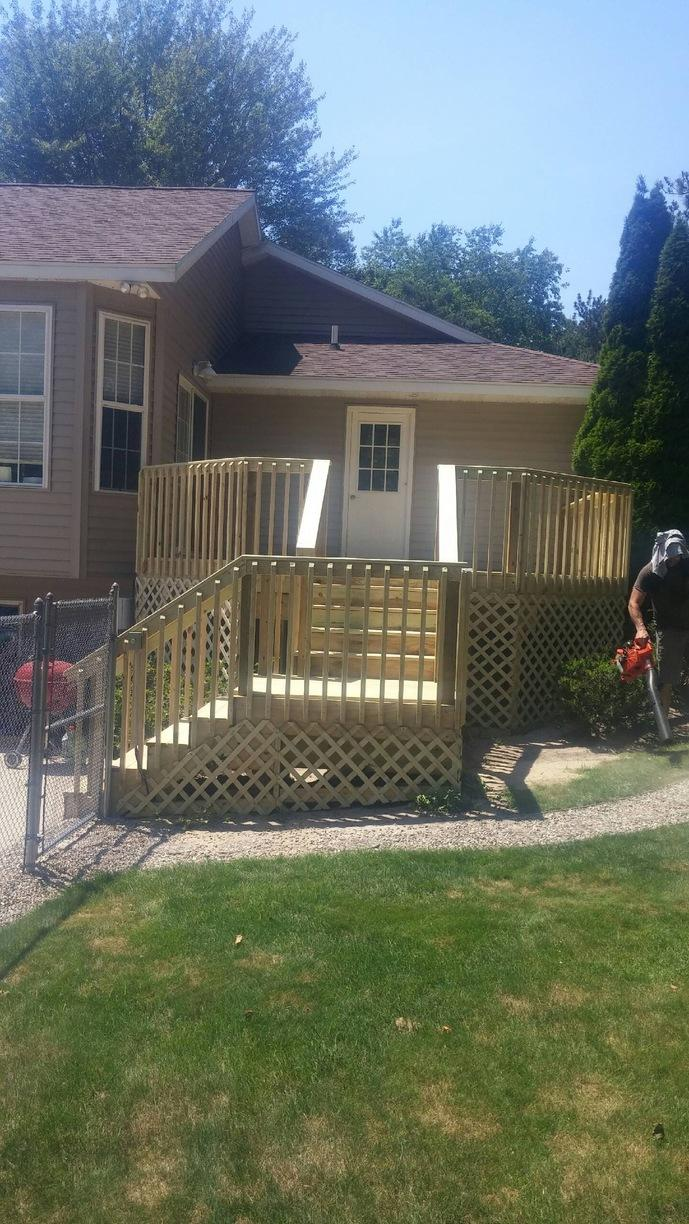 Building a Deck in Holland, Michigan