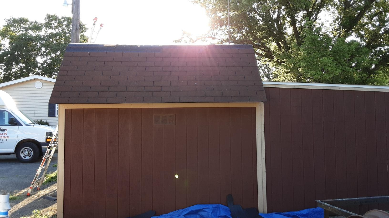 Original Roof with Missing Shingles in Marengo, OH