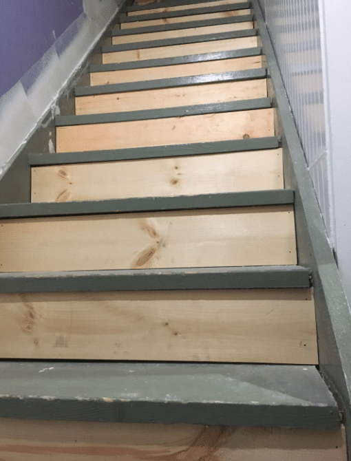 Before View of Stairs