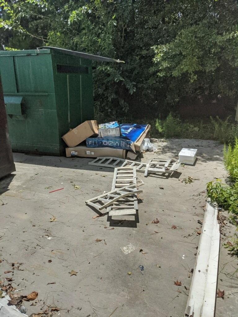 Outside dumpster pickup