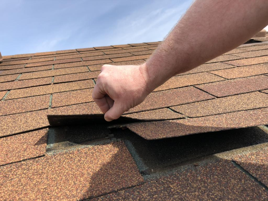 Old Shingles Coming Loose in Groveport