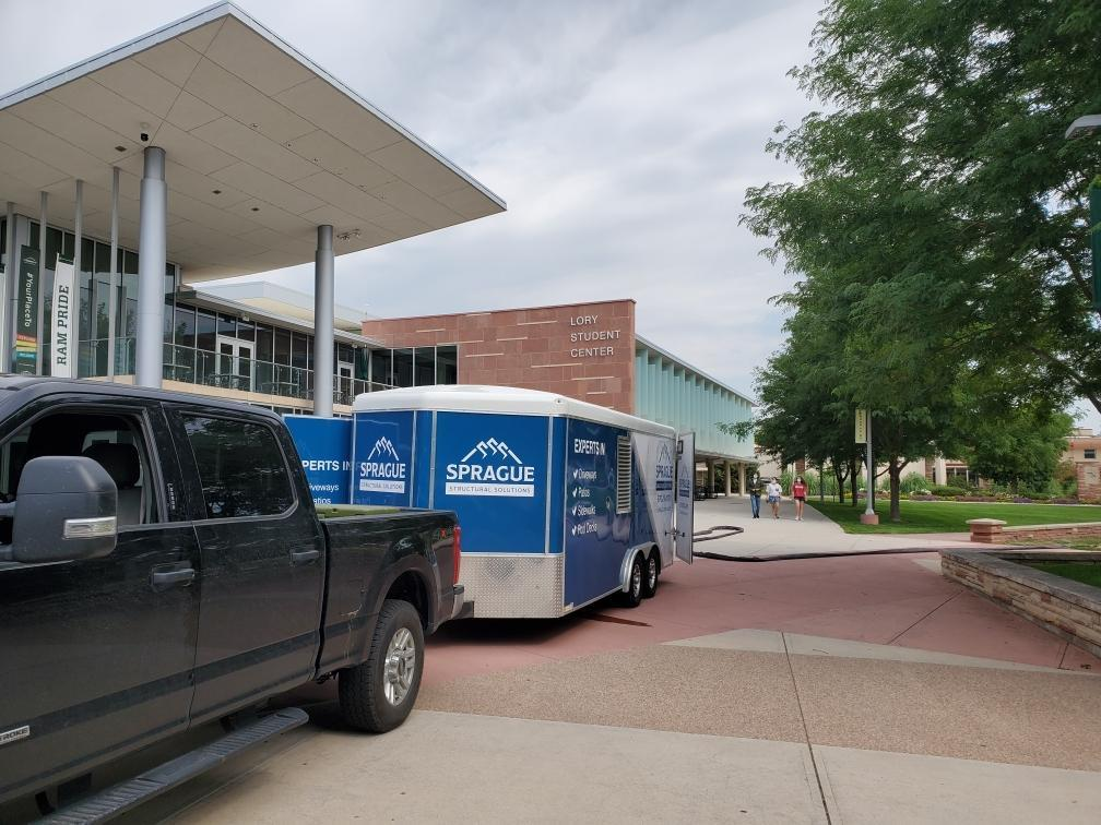 Rig infront of Lory Student Center @ CSU
