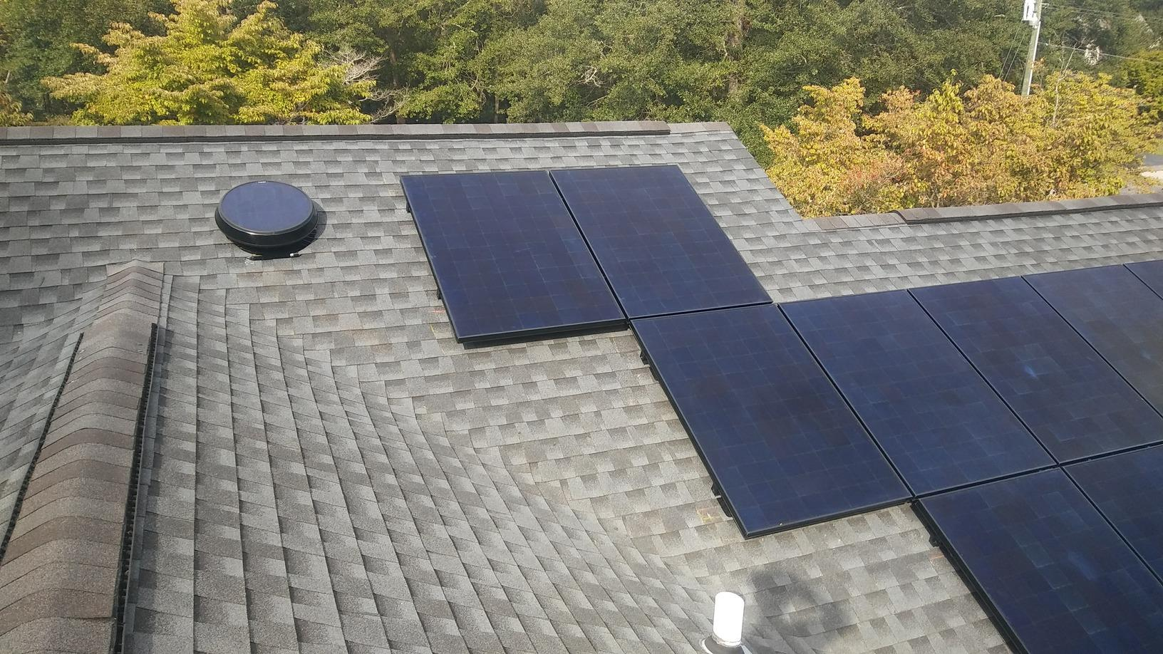 Attic Fan and Solar Panel Install in Edisto Island, SC