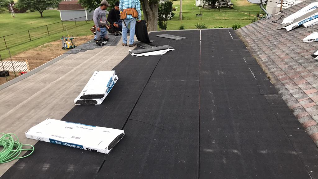 Ice and Water Shield Installed in Ashville