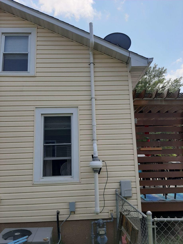 Exterior Exhaust Fan for Radon Mitigation System in Shenandoah, IA