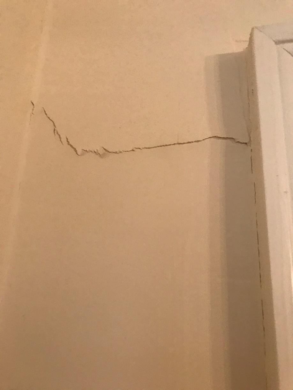 Drywall Crack Above Door 2