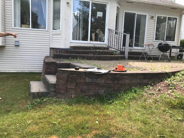Paved patio removal