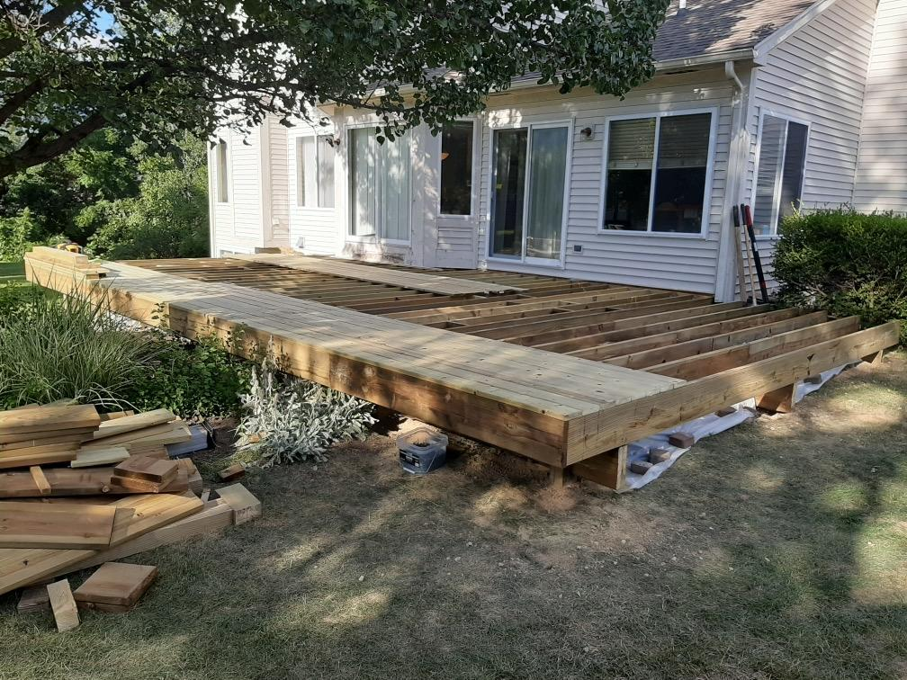 Laying the deck boards