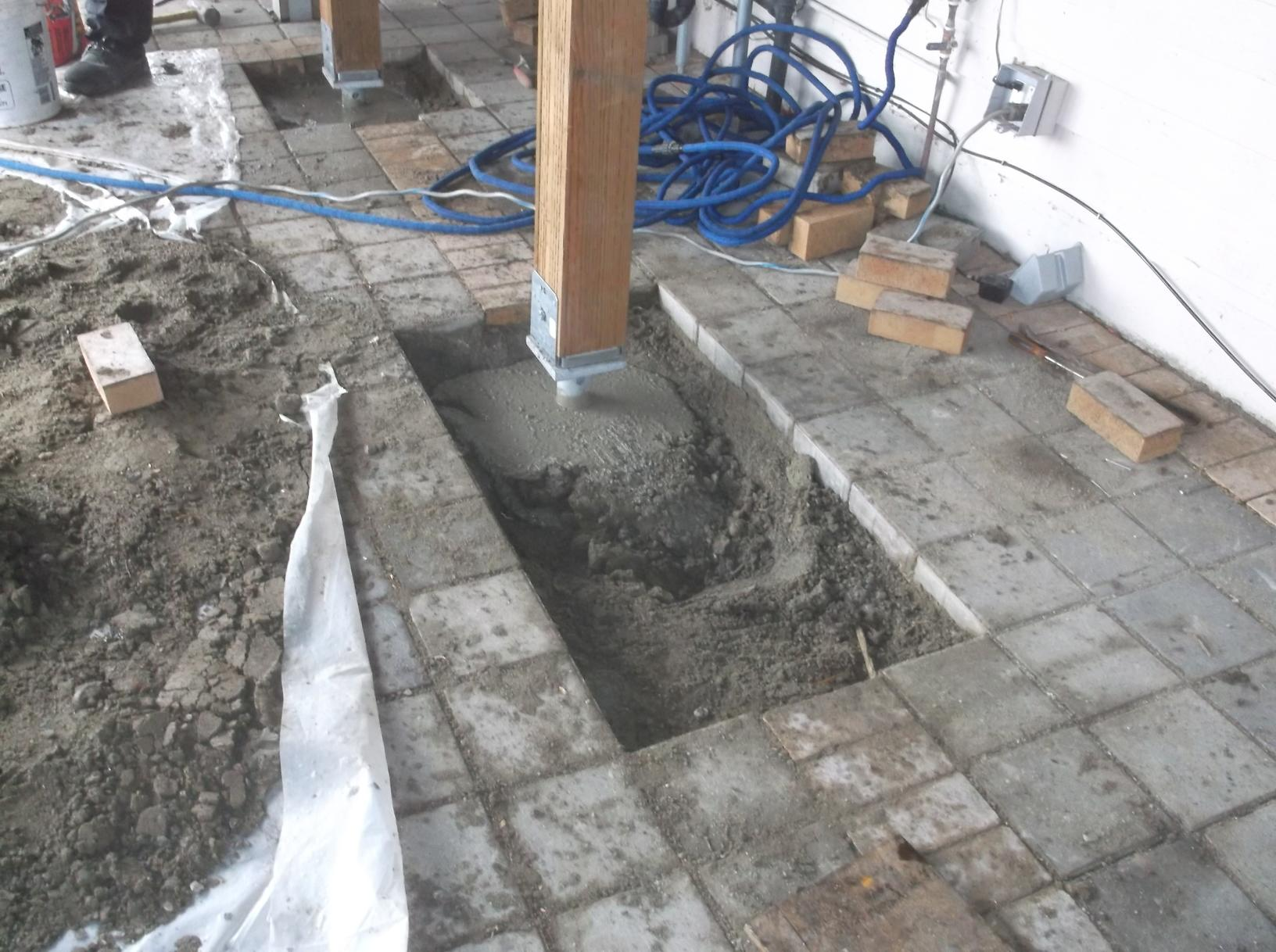 Footing for Deck support filled in