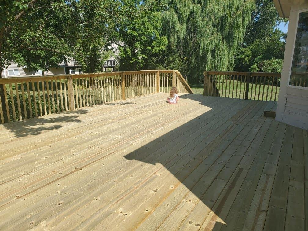 Finished treated deck