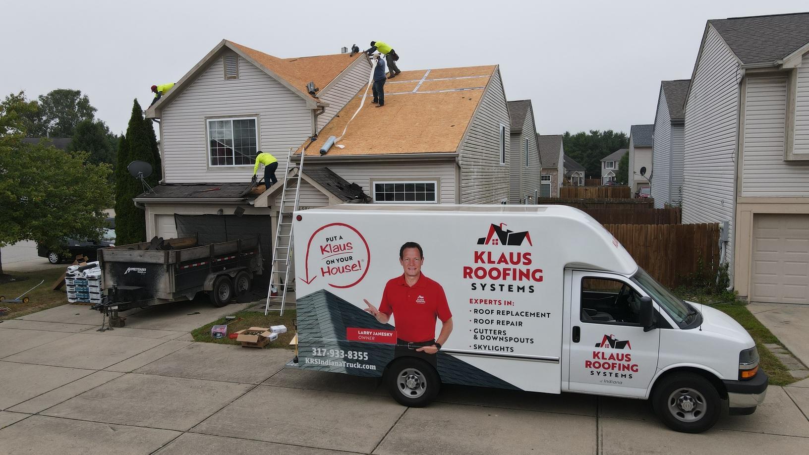 Klaus Roofing Crew Working