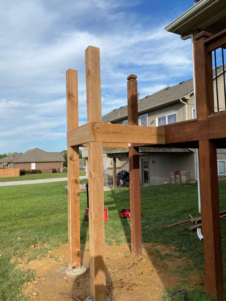 Posts and Concrete Piers