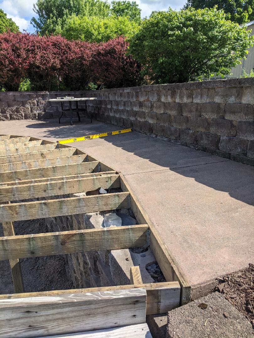Concrete Leveling pool patio
