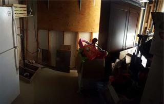 Basement finishing in progress