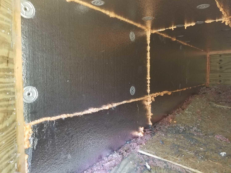 Closer look of Silverglo foam board and Zip foam spray