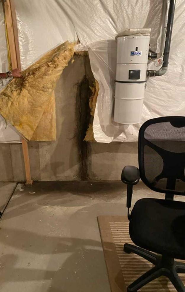 Crack Hidden By Insulation
