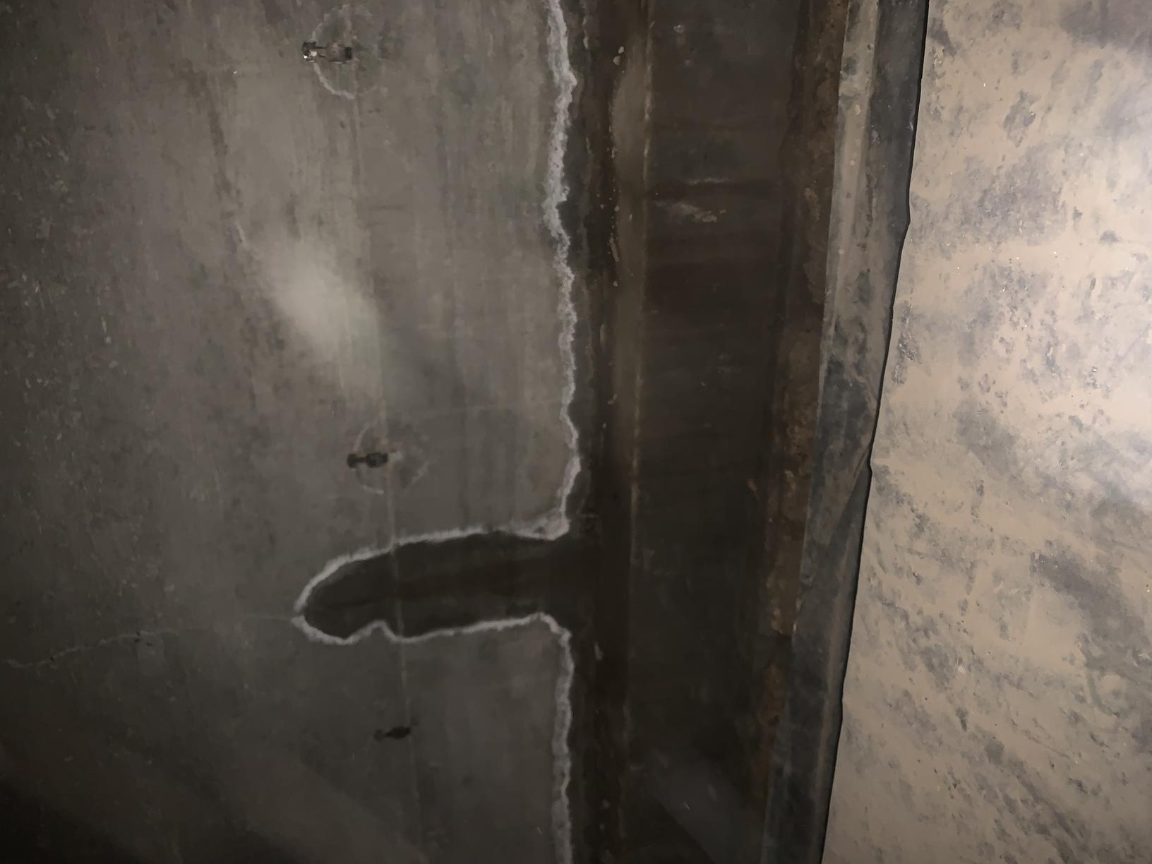 Evidence of water intrusion