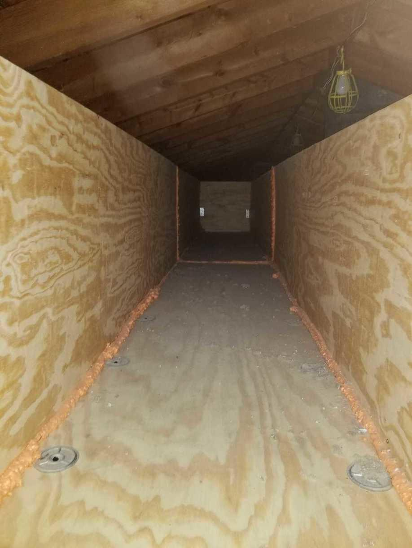 custom built cat walk in attic