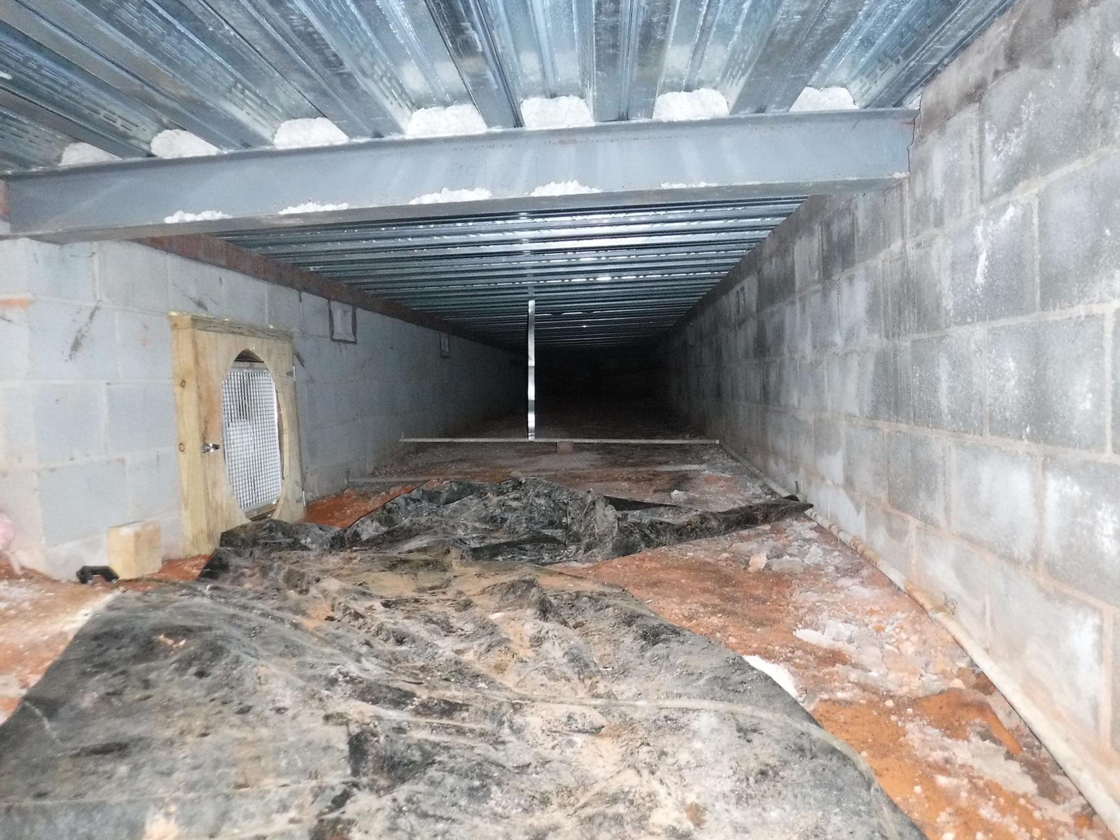 Musty, Moldy Crawl Space in Connelly Springs, NC