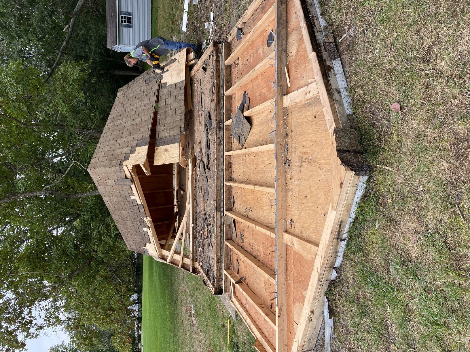 12x16 Shed, almost there!