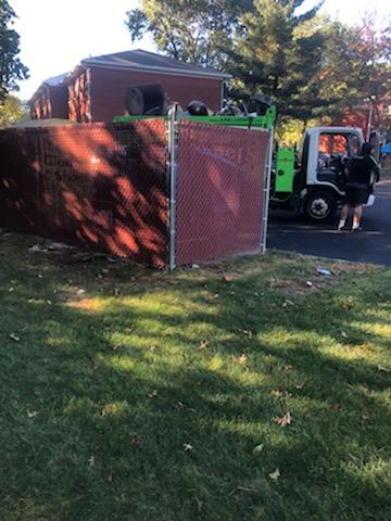 Dumpster area 2 after