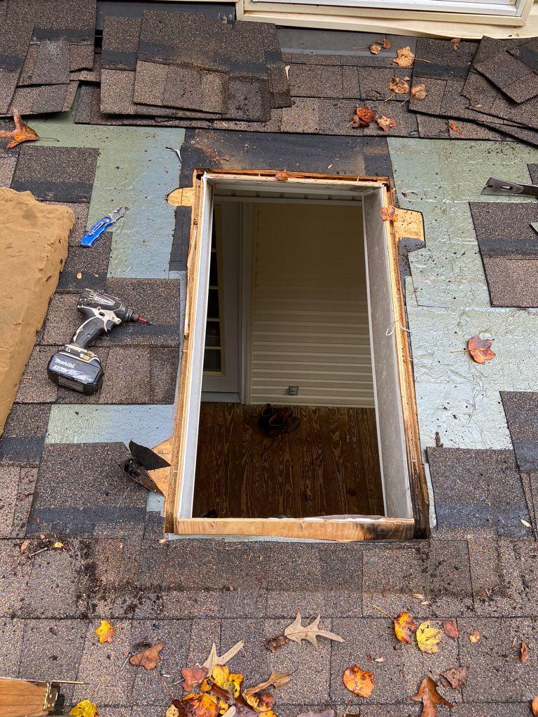 Replacing and Resealing New Skylight
