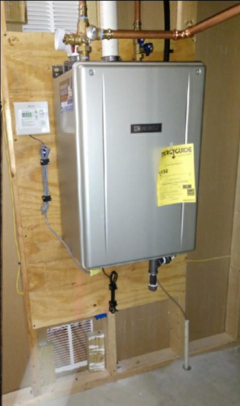 Noritz tankless water heater installation