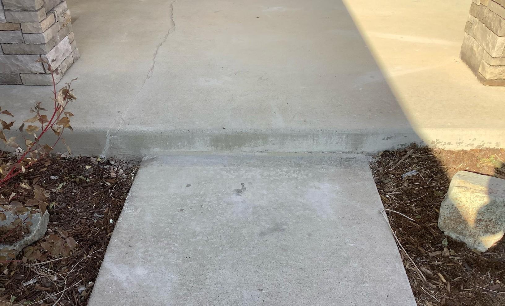 After photo of sunken sidewalk