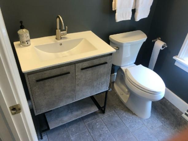 Bathroom fixture installation