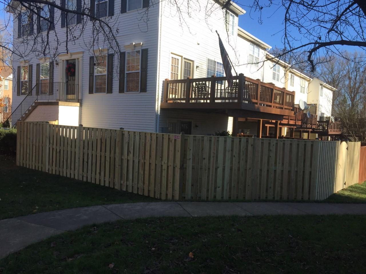 Wood Privacy Fence, Spotsylvania