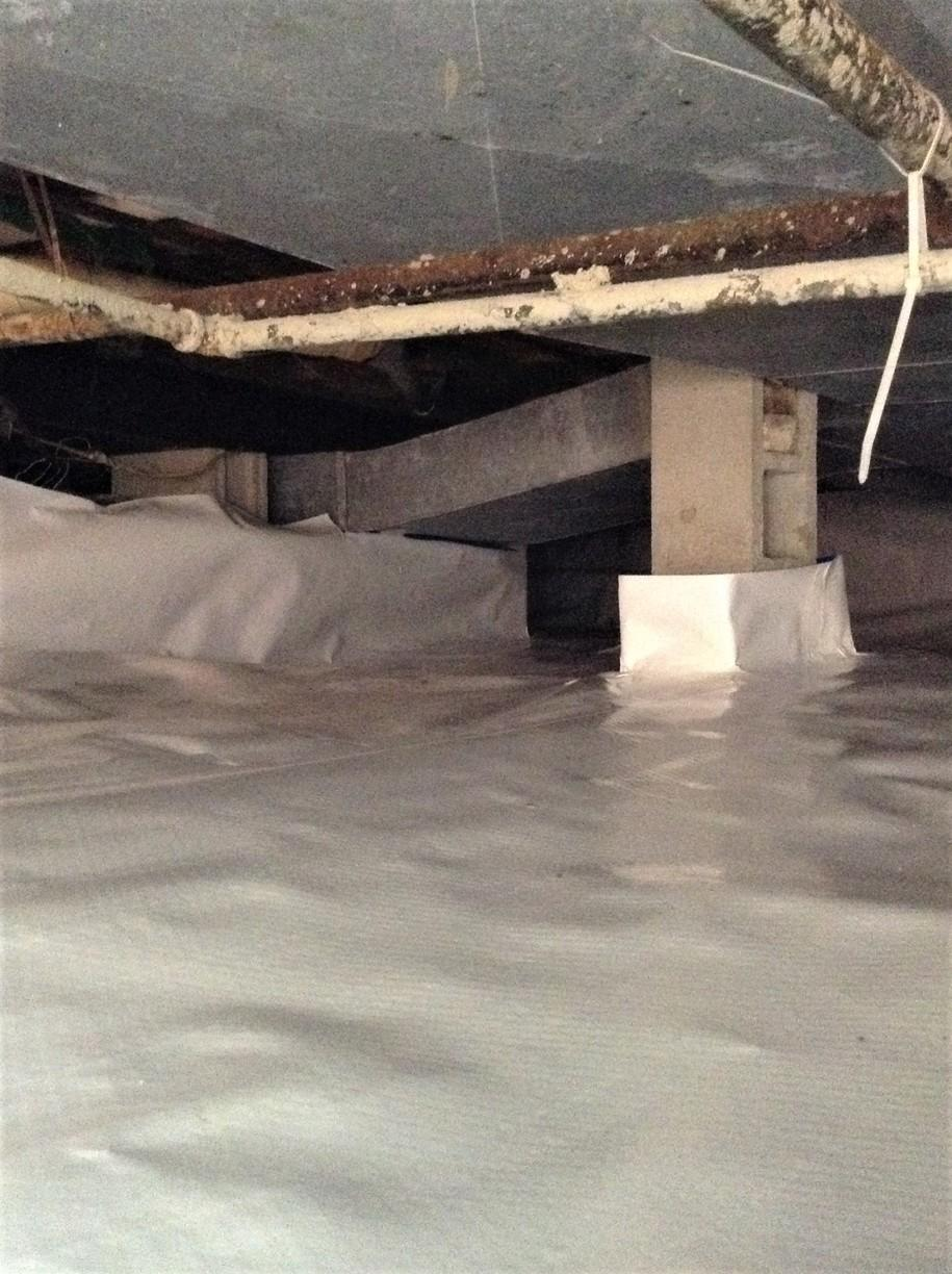 Wet Crawl Space Waterproofed & Encapsulated in Chesterfield, MI