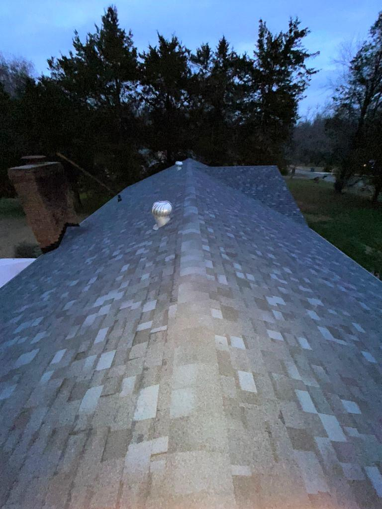 Finished Shingle Roof