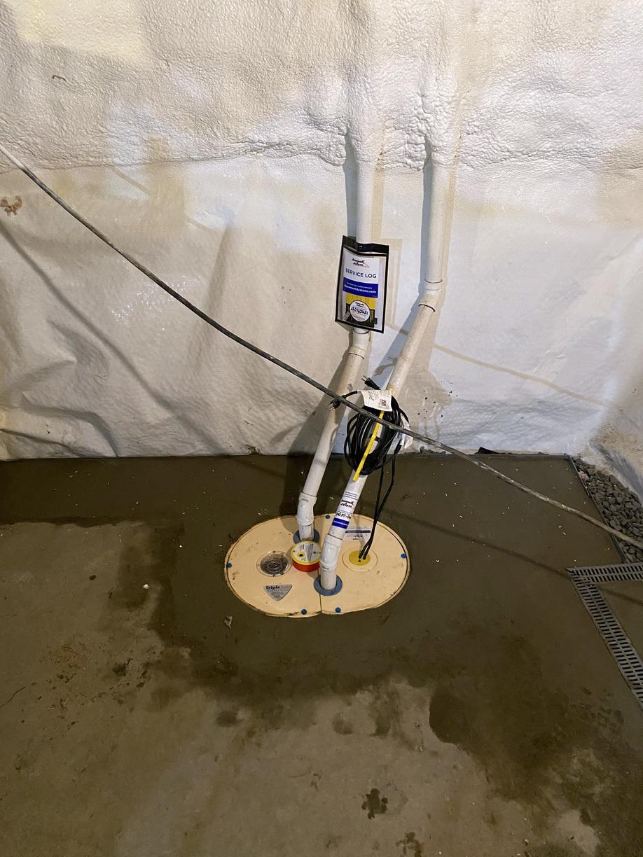 Waterproofing in Richmond, Vermont.