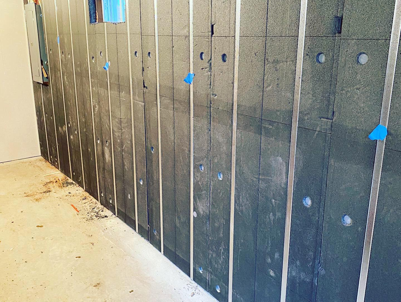 Basement Wall Insulation in New Hampton, New Hampshire.
