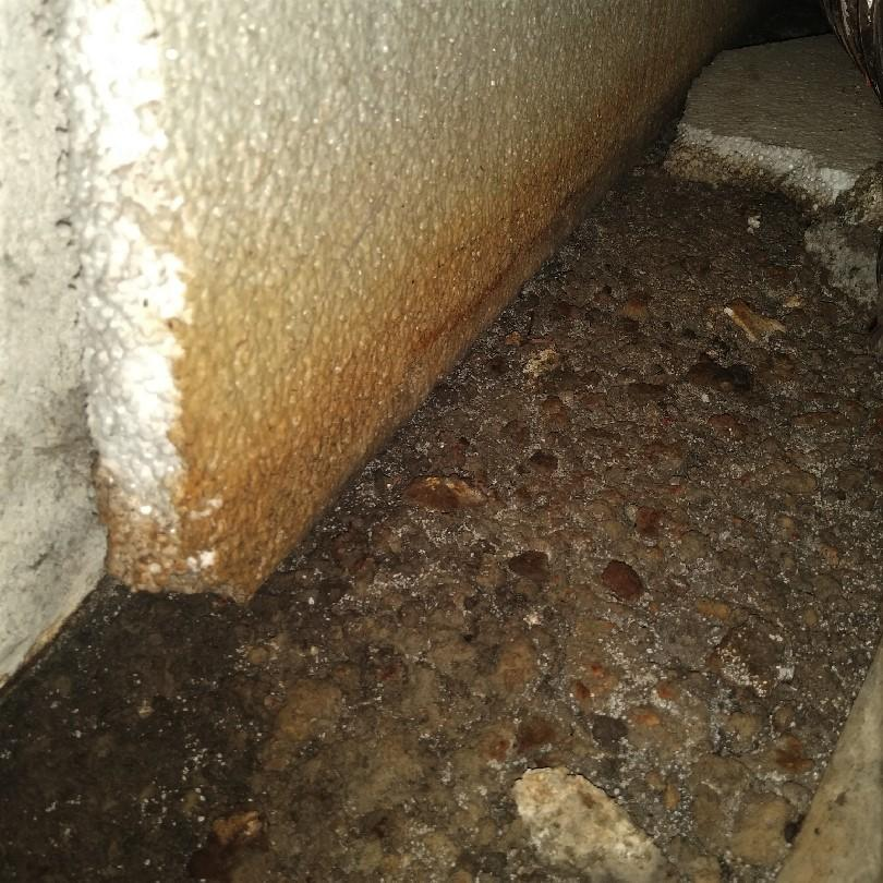 Rusty and Wet Crawl Space Waterproofed in Algonac, MI