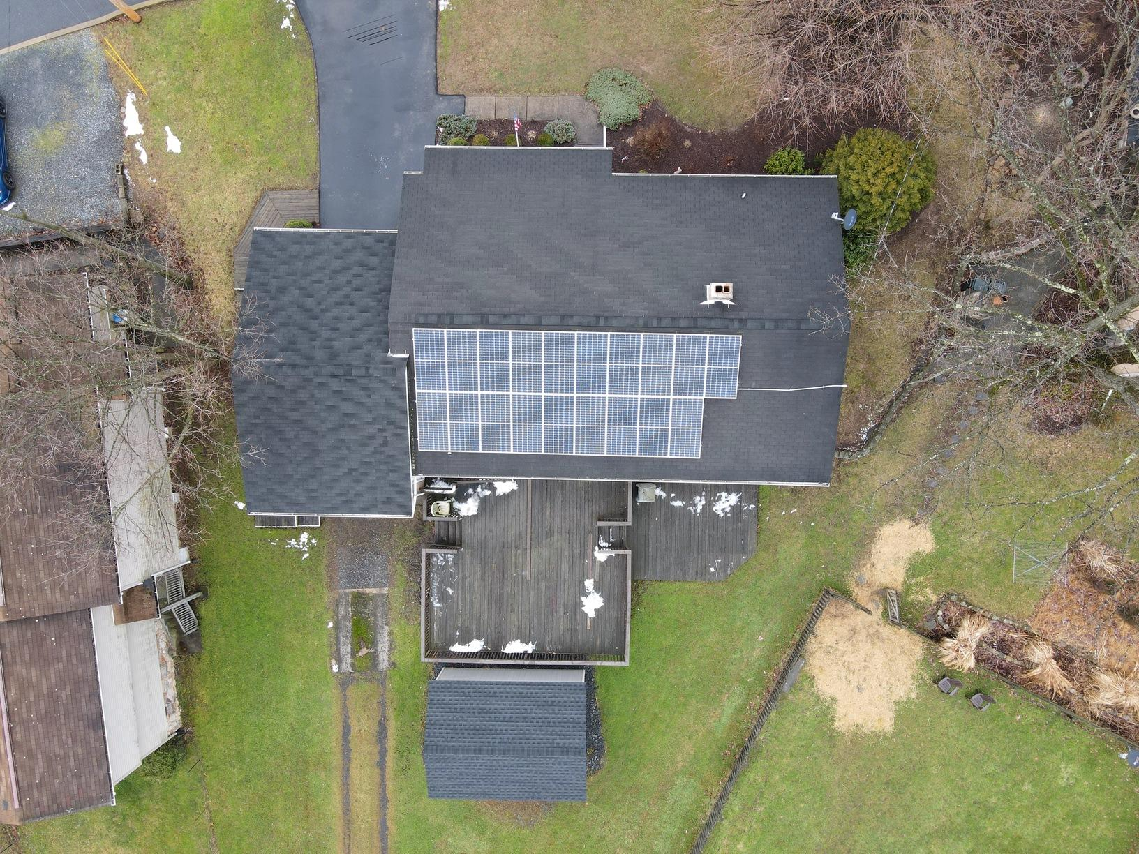 Wayne and Lucille's Solar Installation Done in Roseto, Pa