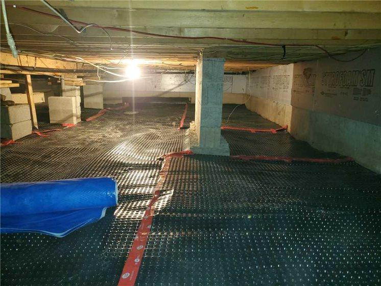 Installation of our drainage membrane