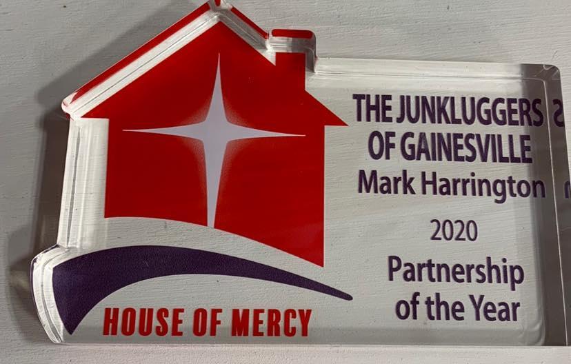 2020 House of Mercy Partnership of The Year Award!